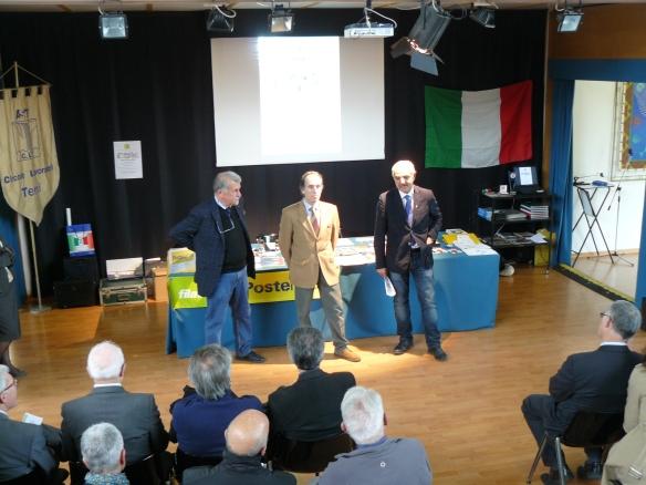 Rodolfo Borzacchini, Bruno Vescarelli e Piervito Deflorio, Presidente del C.L.T.