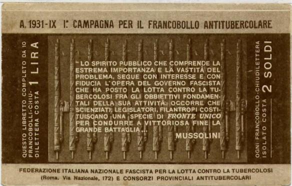 1931 - 1^ Campagna Antitubercolare