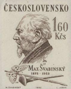 1963, 90° anniversario della nascita di Max Svabinsky