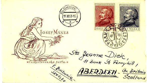 Busta dedicata a Josef Manes