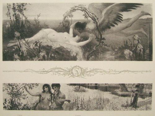 Original Lithograph Allegorien1898 Max von Svabinsky