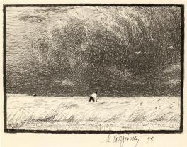 Prima del temporale, Penna e inchiostro di disegno, 1899