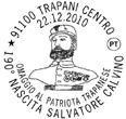 190° Nascita Salvatore Calvino omaggio al patriota trapanese