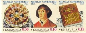 Venezuela, 1973, omaggio a Copernico nel V°centenario della nascita della nascita