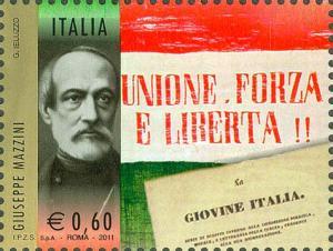 Emesso il 2 giugno 2011, Giuseppe Mazzini