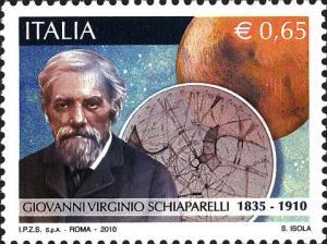 Italia, 2 luglio 2010, Giovanni Virginio Schiaparelli e Pianeta Marte