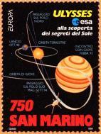 San Marino, 750 £. - 23 maggio 1994, percorso della sonda Ulysses