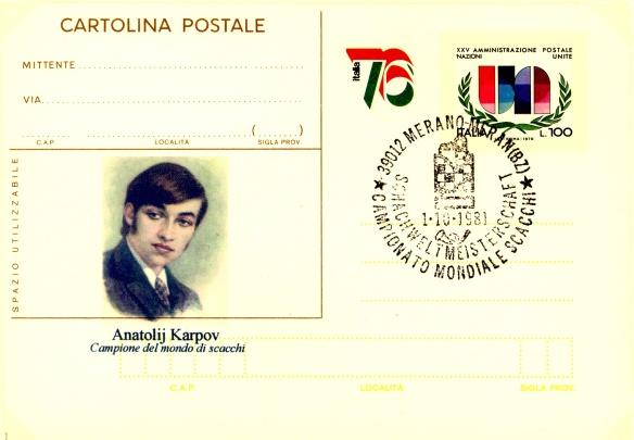Cartolina Karpov