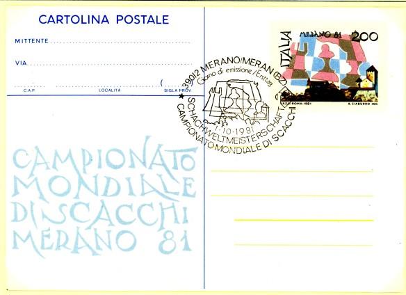 Cartolina postale merano 1