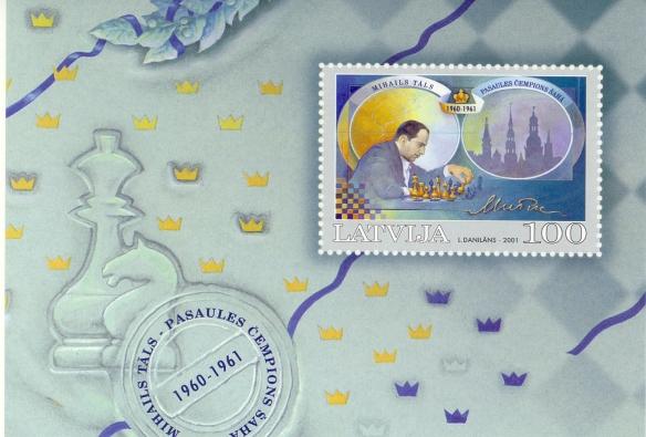 Lettonia 2001, foglietto commemorativo di Mikchail  Tal.