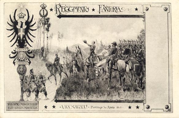 Cartolina postale dei primi del '900 -Prima Guerra d'Indipendenza- battaglia di Pastrengo