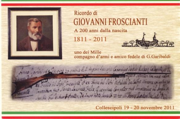 Cartolina realizzata dalla Pro loco di Collescipoli per il bicentenario della nascita