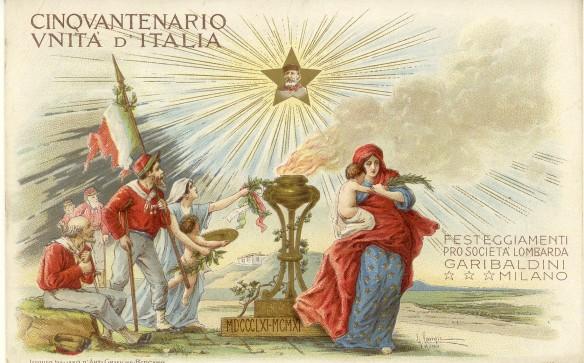 Cartolina postale commemorativa dei primi anni del '900