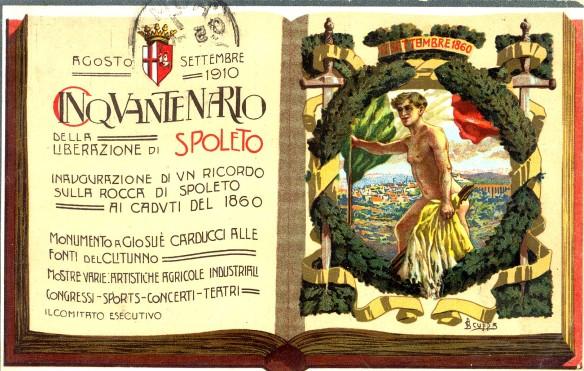 Cartolina commemorativa del cinquantenario della liberazione di Spoleto