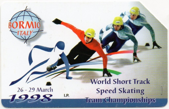 Scheda Telefonica Telecom-Campionato Mondiale di Short Track 1