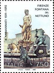 Fontana del Nettuno, a Firenze - 6 febbraio 1992