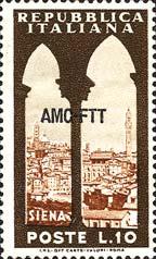 Siena e torre dei Mangia - 26 gennaio 1954