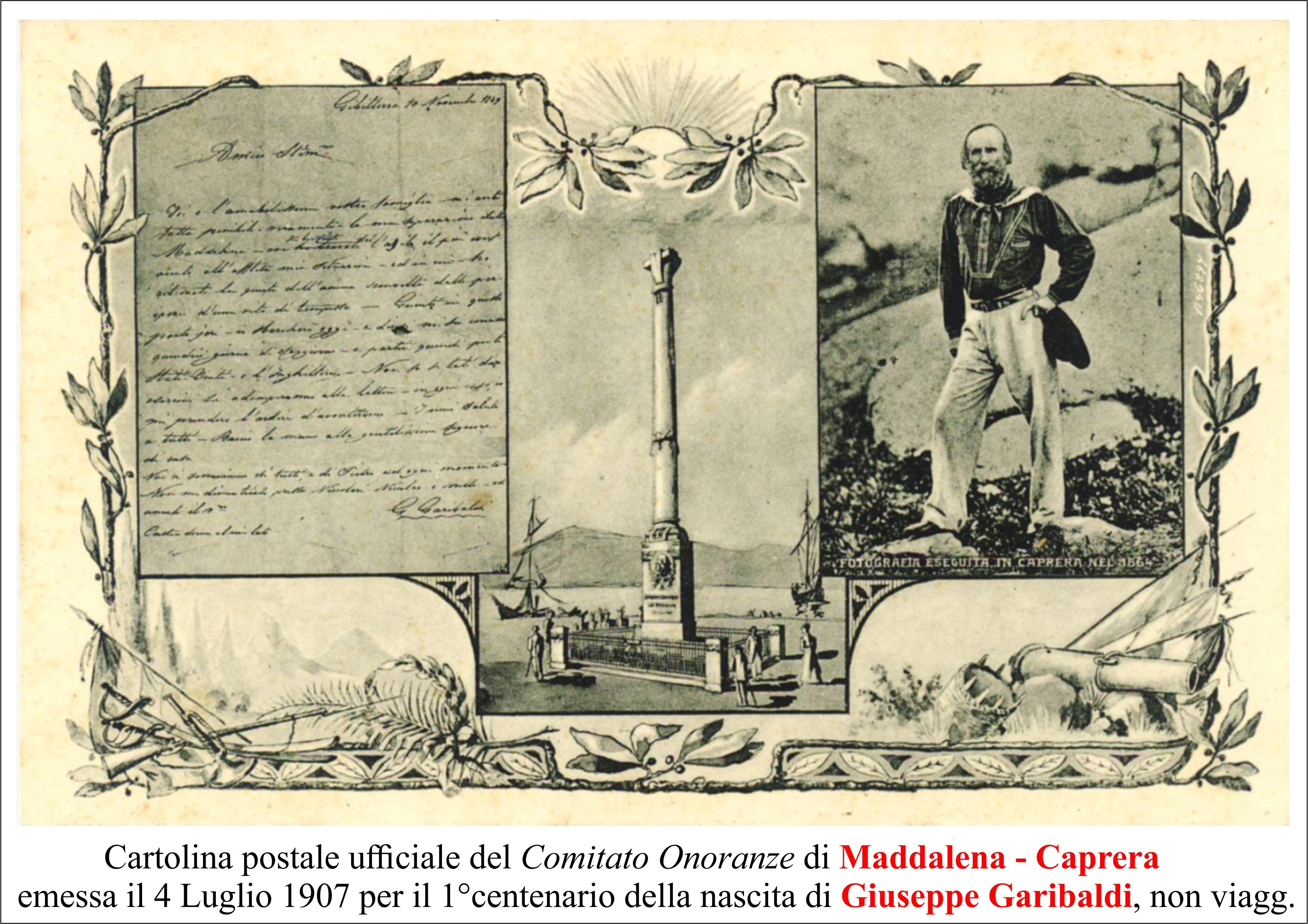 Primo centenario nascita Garibaldi